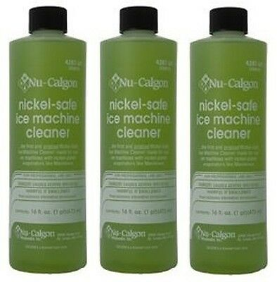 3-Lot Nu-Calgon 4287-34 Nickel-Safe Ice Machine Cleaner - New OEM