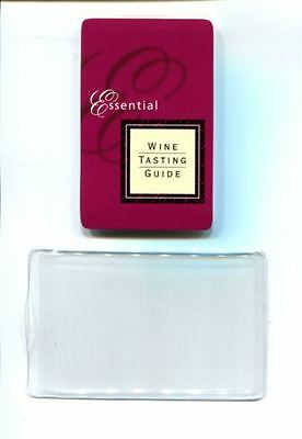 Essential Wine Tasting Guide Pocket Size to A4 Plus Plastic Sleeve RRP$9.95
