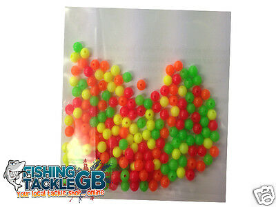 FISHING RIG BEADS - 5mm ASSORTED COLOURS - Packs of 200