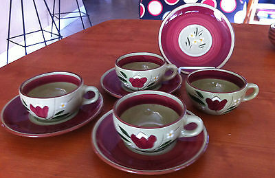 Vintage Stangl Pottery  Magnolia Cup and Saucer  Lot