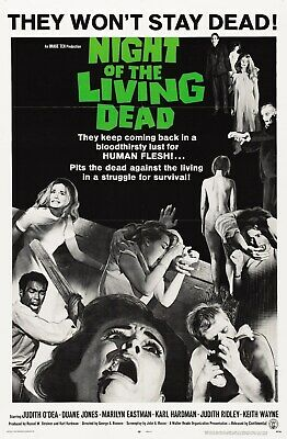 Night of the Living Dead - George A Romero - A4 Laminated Mini Poster