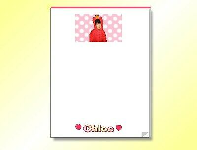 PERSONALIZED NOTEPAD WITH YOUR OWN PHOTO OR IMAGE 5.5 in x 8.5 in