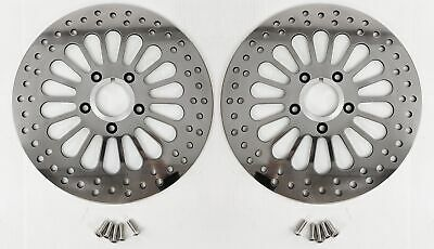 DNA Super Spoke Polished Dual Front 11.5 Disc Rotors Harley Touring 00-07 (Pair)