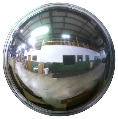 """Super Hybrid  24"""" Dia. Convex/Dome Safety Mirror, 72' Viewing Area, Made in USA"""