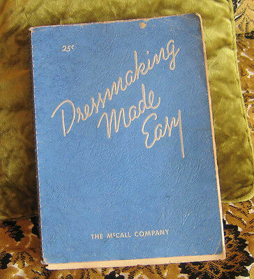 Dressmaking Made Easy - McCall Corporation 1935 Vtg Sewing Manual dress pattern