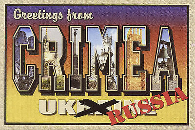 GREETINGS FROM CRIMEA-New Large Letter Postcard-Signed L. Fulton-Ltd Ed 100
