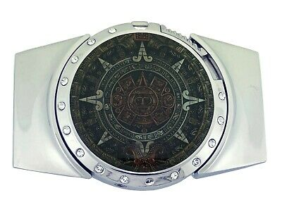 Aztec Calendar Belt Buckle Men Gold Metal New Mayan Women Indian Fashion Mexican
