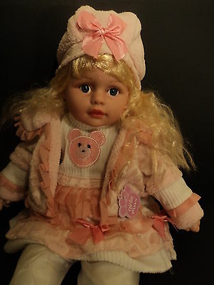 Real Life Looking Pinky Large 58cm Baby Doll Girl Doll New Tagged Cute Blonde