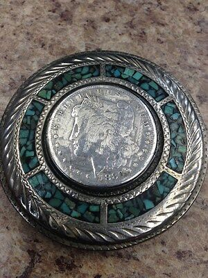 Wil-Aren Belt Buckle with Morgan Silver Dollar - Hand-Made Vintage