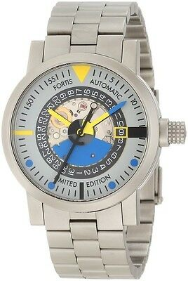 Fortis 623.22.15 M Grey Silver Dial  Automatic Limited Art Edition Watch