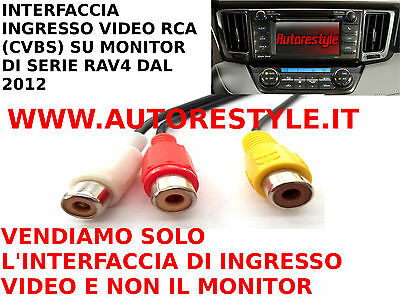 Interfaccia Di Ingresso Video Composito Rca Su Monitor Di Serie Toyota Rav4 2012