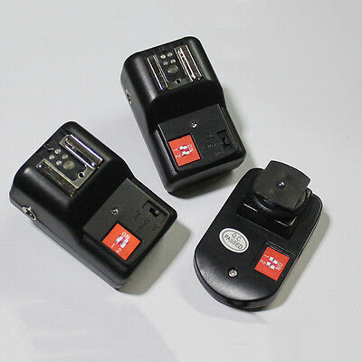 4 Channel Wireless Remote Flash Trigger for External Speelight with 2 Receiver