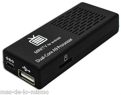 Android SmartTV MK808B Reproductor Compacto Dual Core 1+8GB HDMI Bluetooth WiFi