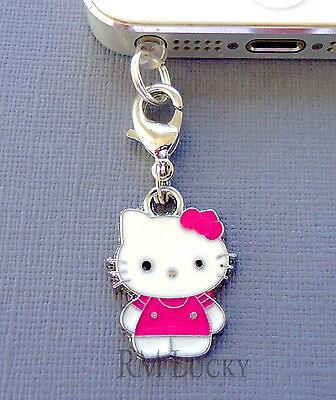 a71cb79f7 Hello Kitty cell phone Charm Anti Dust proof Plug ear cap jack For iPhone  C144