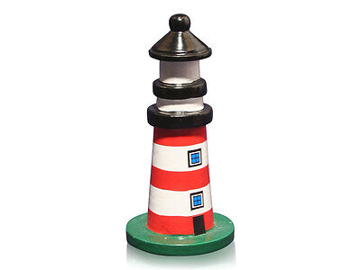 Red & White Stripe Lighthouse Model, Nautical Gifts
