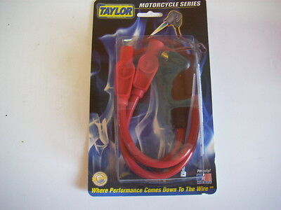 TAYLOR 8mm RED SPARK PLUG WIRES HARLEY SPORTSTER 883 1200 1200C XL 1986-2003