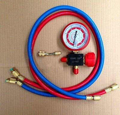 AC Air Conditioner Freon Charging Manifold Gauge