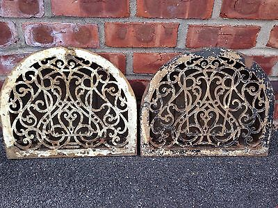 Great Pair Of Antique Victorian Architectual Cast Iron Dome Shaped Air Vents