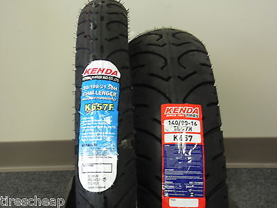 """Two Tire Set Motorcycle Tires 90/100-21 Front 140/90-16 Rear  K657  21"""" 16"""""""