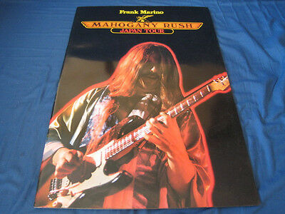 Frank Marino Mahogany Rush 1978 Japan Tour Book Concert Program