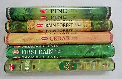 Hem Incense Forest * Cedar * Pine * Rain Forest * First Rain 5 x 20, 100 Sticks