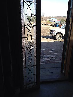 Antique Stained Glass Transom Window With Jewel In Center Sg 607