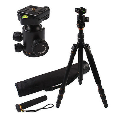 Travel Angle Carbon Fiber Tripod With Monopod Ball Head  For Camera DSLR BK-586