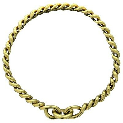 Hermes Torsade 18K Gold Chain Link Necklace