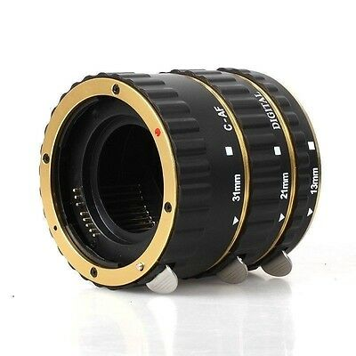 Gold Auto Focus Macro Extension Tube for CANON EOS EF EF-S 700D 7D 6D 5D III/II