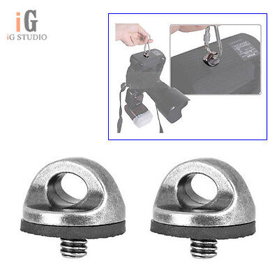 """2PCS 1/4"""" Screw Connecting Adapter For Camera Camcorder Shoulder Quick Strap"""