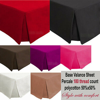 LUXURY Plain Soft PERCALE 180thread Base Platform valance sheet Plates style