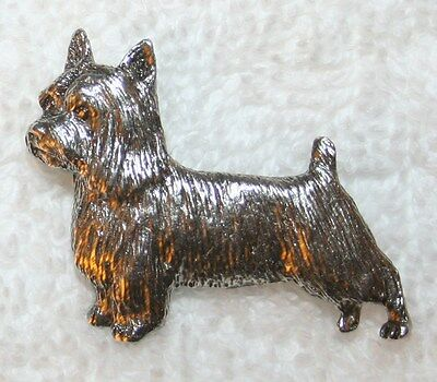 Silky Terrier Dog Fine PEWTER PIN Jewelry Art USA Made