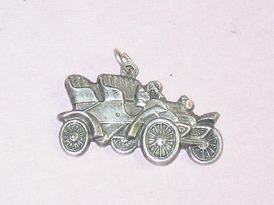 Vintage Silverplated Old Car Charm Four