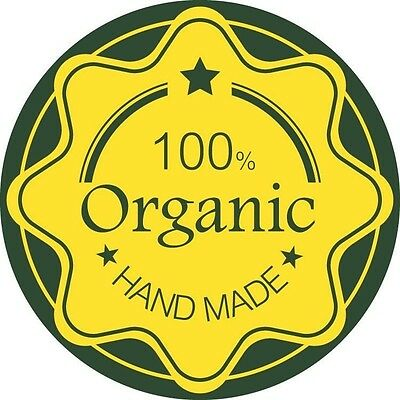 """24 Personalized 1.65"""" Round Craft Paper Organic Labels Laser Printed Stickers"""