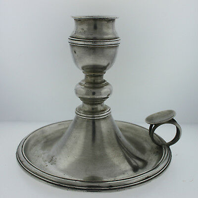 Antique Vintage French Silver Old Fashion Style Candle Holder