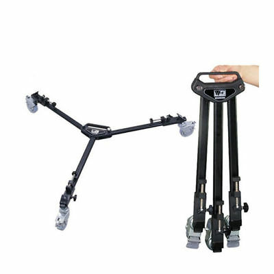 Universal Video Folding Wheels Heavy Duty Slider Tripod Dolly for Camera Stand