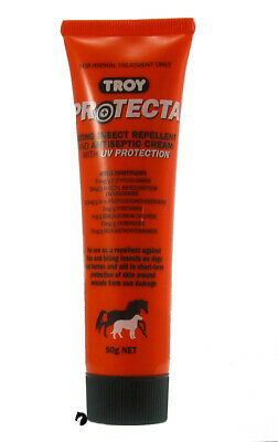 Troy Protecta Repellent Antiseptic Cream UV Protect  Insect cat dog horse100g