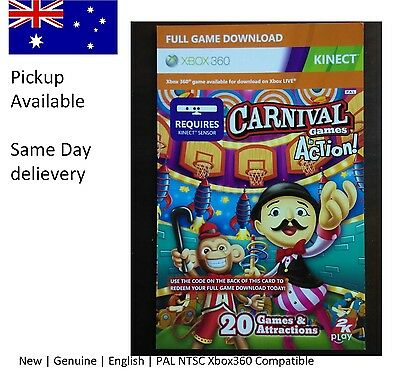 Xbox 360 game : Kinect carnival in action Full Game Download code !