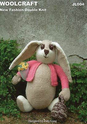 Woolcraft JL004  Rosie the Bunny Rabbit KNITTING PATTERN - Not finished toy