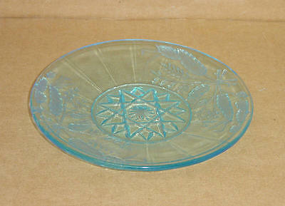 """EAPG BLUE WHEAT & BARLEY 7"""" PLATE BRYCE BROTHERS 1880'S"""