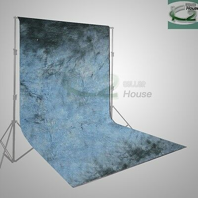 6 x 9 ft Photography Studio Hand Painted Blue Purple Muslin Backdrop Background