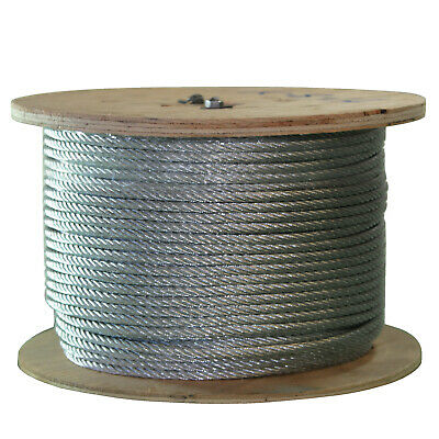 G014150C 500-Feet OSHA ASME Galvanized Wire Rope, 1/4 inch