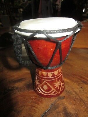 Sweet Baby 12 Cm High Dot Painting Bongo Drum Djembe Rrp $ 13 W/sale Outlet