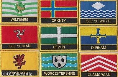 United Kingdom County Flag & Regional Flag Embroidered Patch Badge