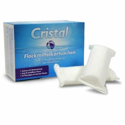 1,0 kg = 8 Stk Flockmittelkartuschen CRISTAL Flockmittel Sandfilter Pool Flocker