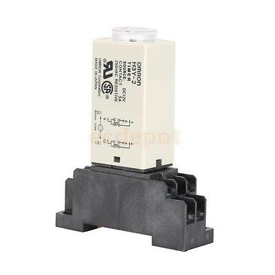 H3Y-2 DC12V Delay Timer Time Relay 0-10 Minute w/ H3Y-2 Base Contact Capacity 5A