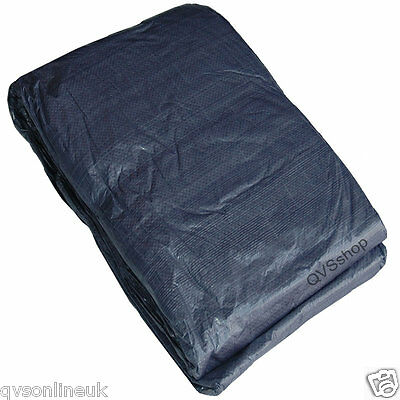 12M x 20M WATERPROOF BLUE TARPAULIN COVER POLY SHEET Roof Tarp with Eyelets