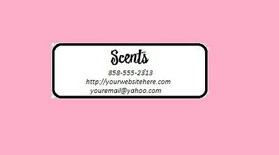 300 Custom Personalized Scentsy/avon Consultant Customized Address Label 1X2-5/8