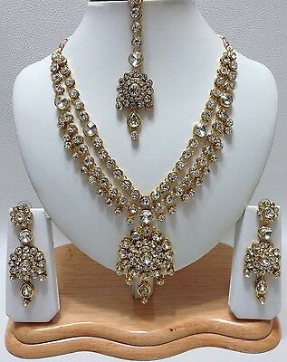 Indian Bollywood Style Bridal / Party Wear Link Necklace Set