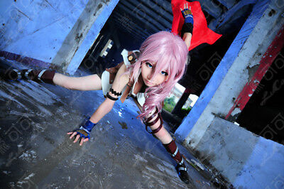 Final Fantasy 13 LIGHTNING Pink Mix Wig Cosplay Wigs